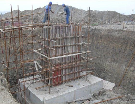 钢结构厂房基础施工_钢结构基础施工图片