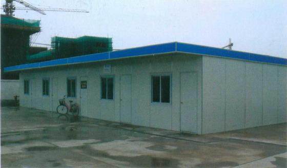 一层单坡彩钢活动板房-南京活动板房